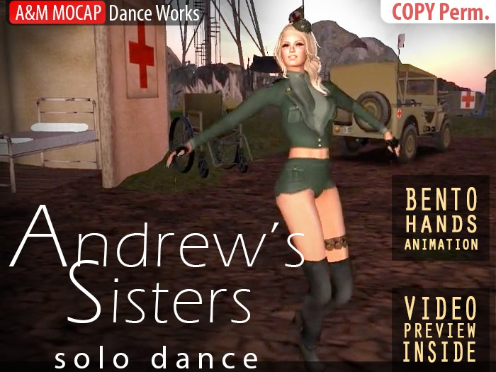 A&M: Andrew's Sisters - solo dance (BENTO hands) :: #TAGS - retro, candyman, boogie woogie bugle boy from company B