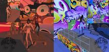 Cenario Skate park + Poses