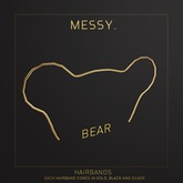 Messy. Hairband Bear