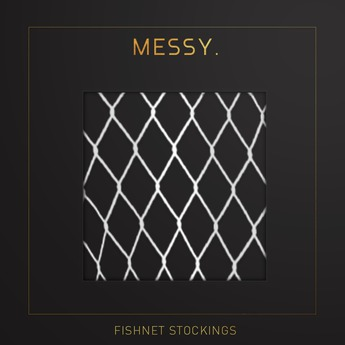 Messy. Fishnet Stockings White