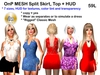 OnP Mesh Split Skirt and Top Set