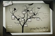 Kyoot Home - Silhouette Photo Tree I (Black)