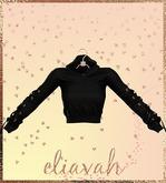 Eliavah ~ Dooboo Sweater [BLACK] (Maitreya, Slink Hourglass, Belleza Isis & Freya)