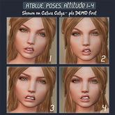 Atblue. Bento Face Poses - Attitude 1-4 (Catwa Lelutka)