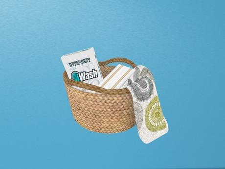 Laundry Basket w/Detergent & Laundry,...Mesh