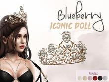 #28 Blueberry - Iconic Doll - Tiara - Gold