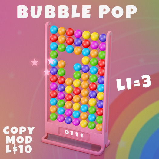 Play the Bubble Pop Game (LI=3)