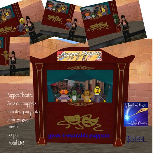 Puppet Theatre with Puppet Giver-crate