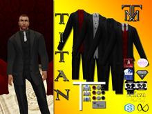 *TM* Titan Dalvin Black Suit