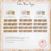 Cutie Store Signs Pink Pack