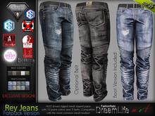 Rey Male Mens Fatpack Denim Jeans Pants - Mesh - TMP, Adam, Slink, Aesthetic, Signature Gianni - Geralt, Belleza Jake