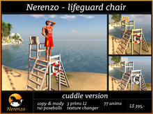 Nerenzo Lifeguard chair - cuddle version - 76 animations - copy