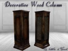 """CdT"" Decorative wood column-pedestal"
