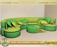 "Sofa and Padded stool ""Elsa"",100% mesh (full perm)."