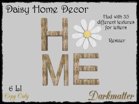 Second Life Marketplace Daisy Home Decor