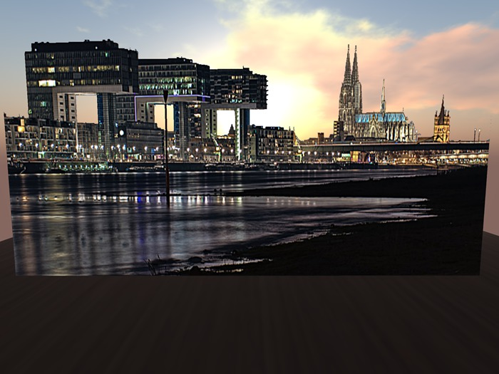 Privacy Screen Skyline Cologne *BOX*