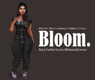 Bloom. Fitted Scrubs Black Panther Scrubs