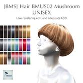 [BMS] Hair BMUS 02 // Mushroom // ColorSet 1 //  BOX