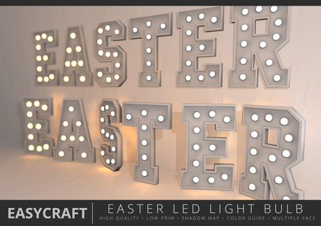 EasyCraft - Full Perm EASTER Signage with LED Bulbs Decor Kit