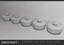 EasyCraft - Full Perm Cupcake with Cherry on Top Decor Kit