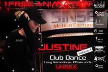 [SINSE] Justine 1 FREE Animation Dance Volume 1 - Club Dance Unisex - Motion Capture Optical Series