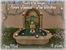 ~Sadie's Design~ Siren's Fountain ~ Pink Hibiscus