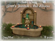 ~Sadie's Design~ Siren's Fountain ~ Red Hibiscus