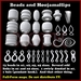 Sculpted Beads, Odd links, Bale (pendant hook for necklace), etc for jewelry making. Most with nano