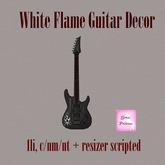{.Gross Princess.} White Flame Guitar Decor