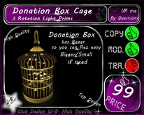 * New Donation Box Cage * 3 Rota Light *