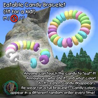 R(S)W Eatable Candy Bracelet for Kids