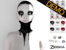 Zibska ~ Lert neck tattoo and makeup demo