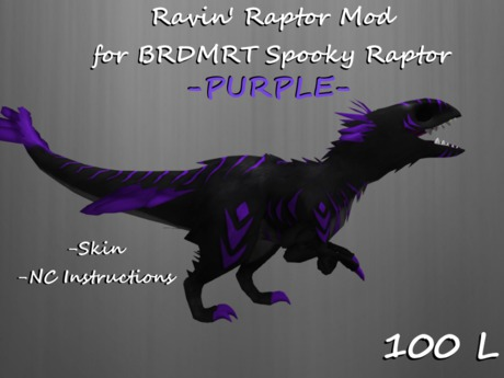 second life marketplace ravin raptor purple for brdmrt spooky raptor ravin raptor purple for brdmrt spooky
