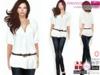 Full Perm Ladies Shirt with Belt  for Ocacin,Slink,Maitreya,Belleza,Tonic,TMP, Ebody, Fitmesh 5 Sizes