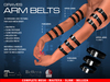 GRAVES Arm Belts - leather latex harness, cuffs