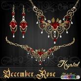 ::: Krystal ::: December Rose - Jewelry Set - Gold - MultiJewel