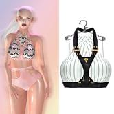 "Elegance Boutique -Top (Harness w/HUD) - CreamLine  -  ""Anne"" -"