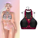 "Elegance Boutique -Top (Harness w/HUD) - Black -  ""Anne"" -Maitreya / Slink / Belleza"