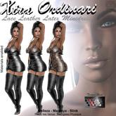 *XO* Lace Leather Latex Minidress