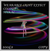 PARTICLE MAGIC WEARABLE LIGHT EFFECT ~ COLOUR SPIRAL