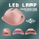 MyBOXiD - Nail Dryer Lamp - Rose Pink ON/OFF