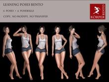 Leaning Bento Pack Korper Poses