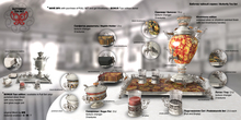 8f8 -Butterfly Tea Set - FULL SET - Khokhloma & Tzar (Bag)