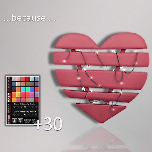 !Because +30 Mesh Heart With LED String Lights Decor