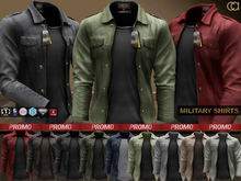 CA PROMO SAVE 75% AESTHETIC SLINK TMP SIGNATURE MILITARY SHIRTS
