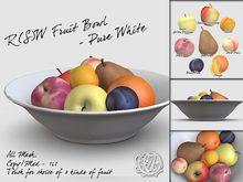 R(S)W Fruit Bowl - Pure White