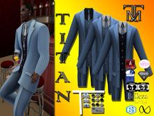*TM* Titan Dalvin Lt Blue PinStrip Suit