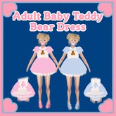 Adult Baby Teddy Bear Dress BOXED