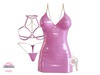 *MC* Lustful / Dress Set / Latex Pink