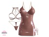 *MC* Lustful / Dress Set / Latex Tan